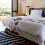 sleeping room in the villa - luang prabang - hotel for rent - lao pdr